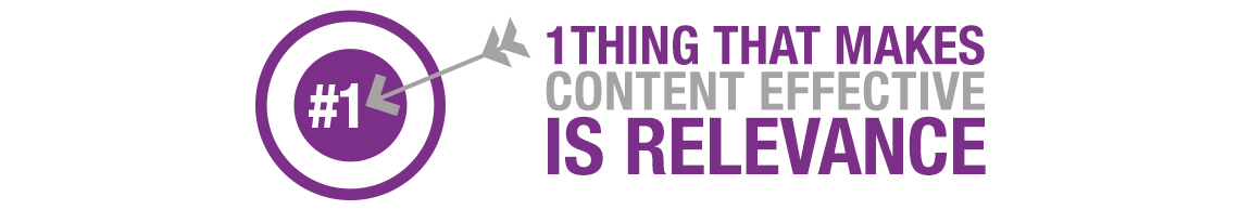 1 thing that makes content effective is relevance