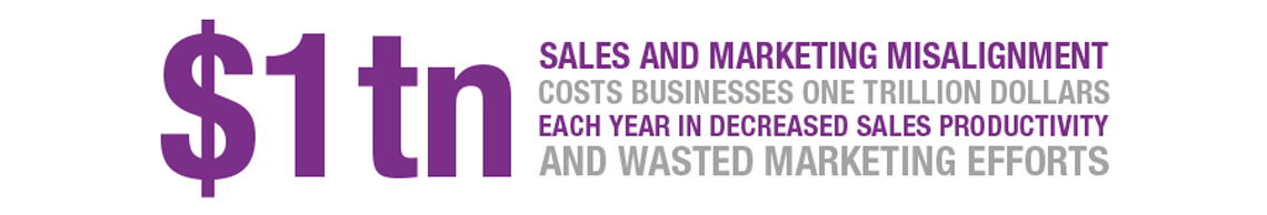 Sales and marketing misalignment costs businesses one trillion dollars each year in decreased sales productivity and wasted marketing efforts