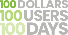 100 Dollars 100 Users 100 Days